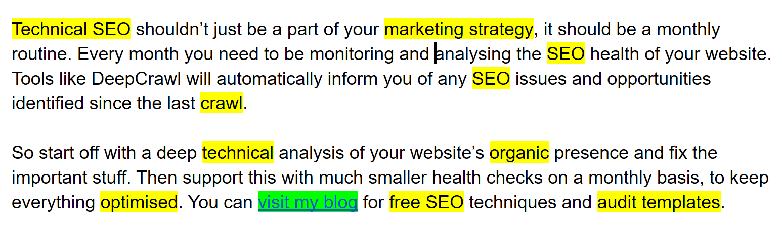 example of an SEO optimised branded anchor